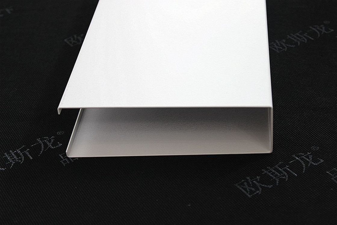 Suspended White U - Aluminum Profile Screen Ceiling Linear Strip Ceiling Panel