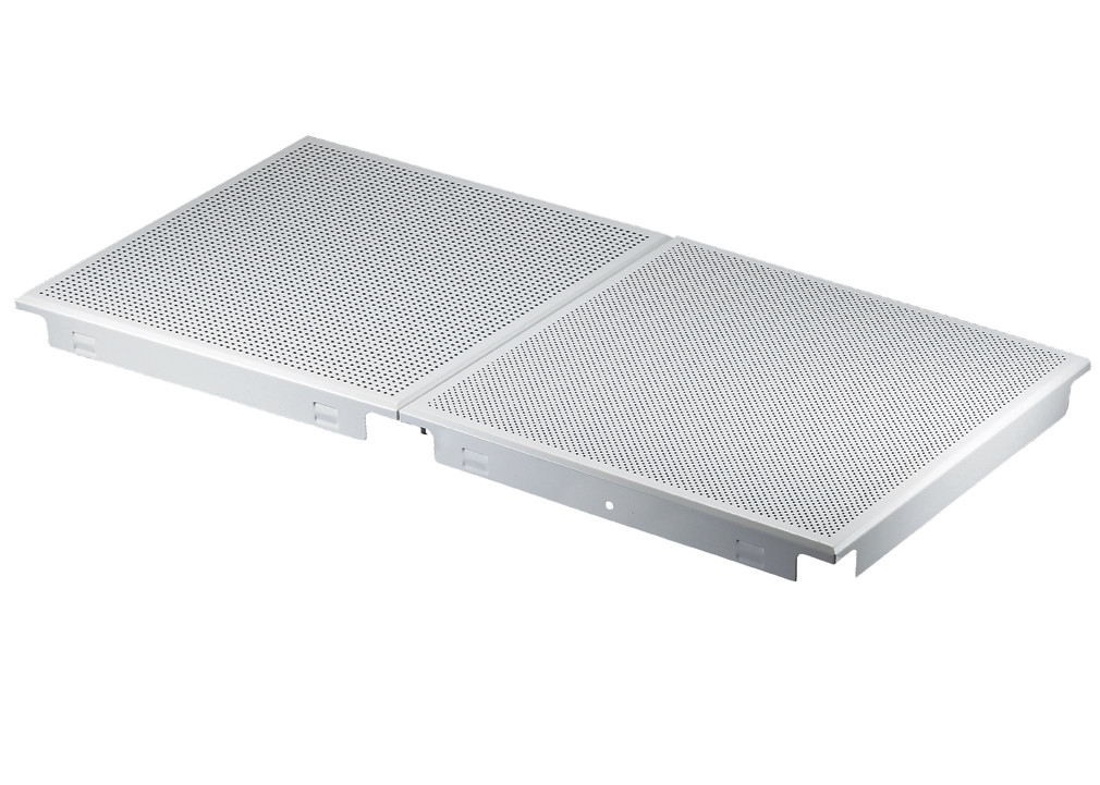 Corrosion / Abrasion Resistance Perforated Metal Ceiling with Sound Absorbing Inlays