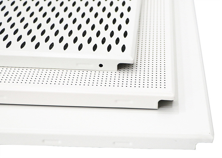 Commercial Project Aluminum Hollow Perforated Ceiling Tiles Clip In Sound - Absorbing